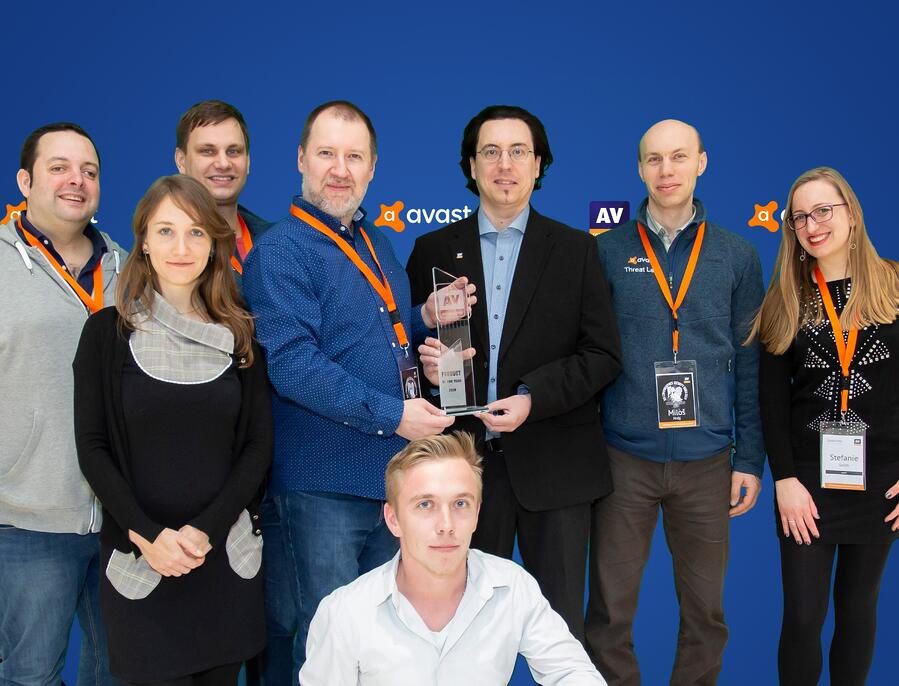 Avast-team-receiving-product-of-the-year-award-av-comparatives