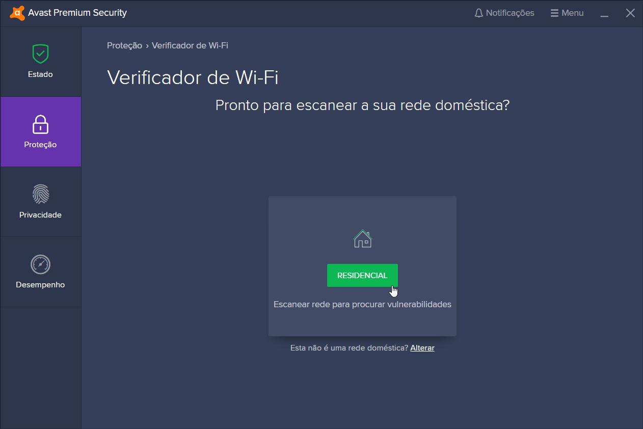 Verificador de Wi-Fi da Avast