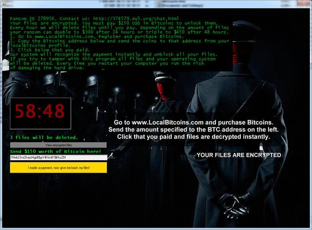 Пример программы-вымогателя Jigsaw