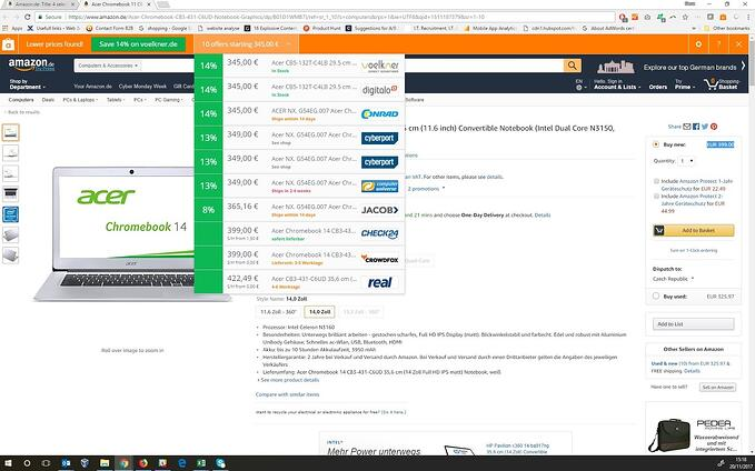Avast SafePrice best prices while shopping