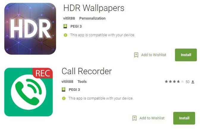 LeakerLocker - HDR Wallpapers et Call Recorder infectées
