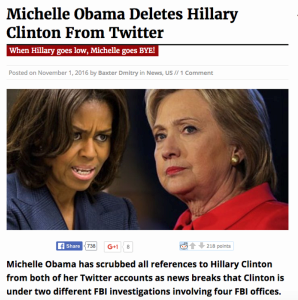 michelle-obama-hilary-clinton-fake-news