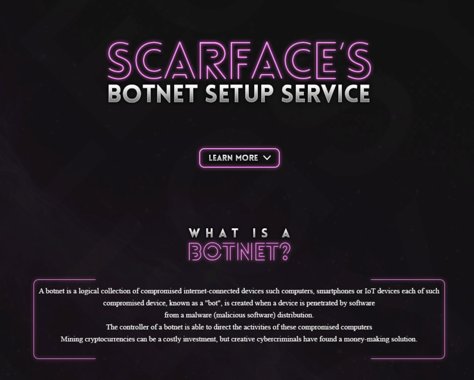 scarface-botnet-setup-service