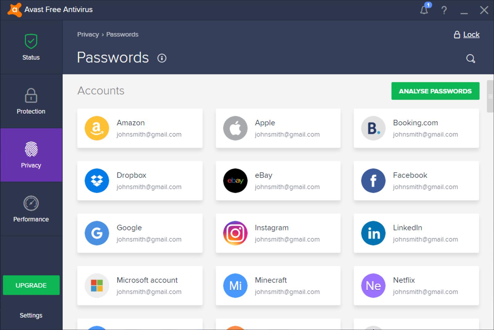 Avast Passwords est facile à utiliser