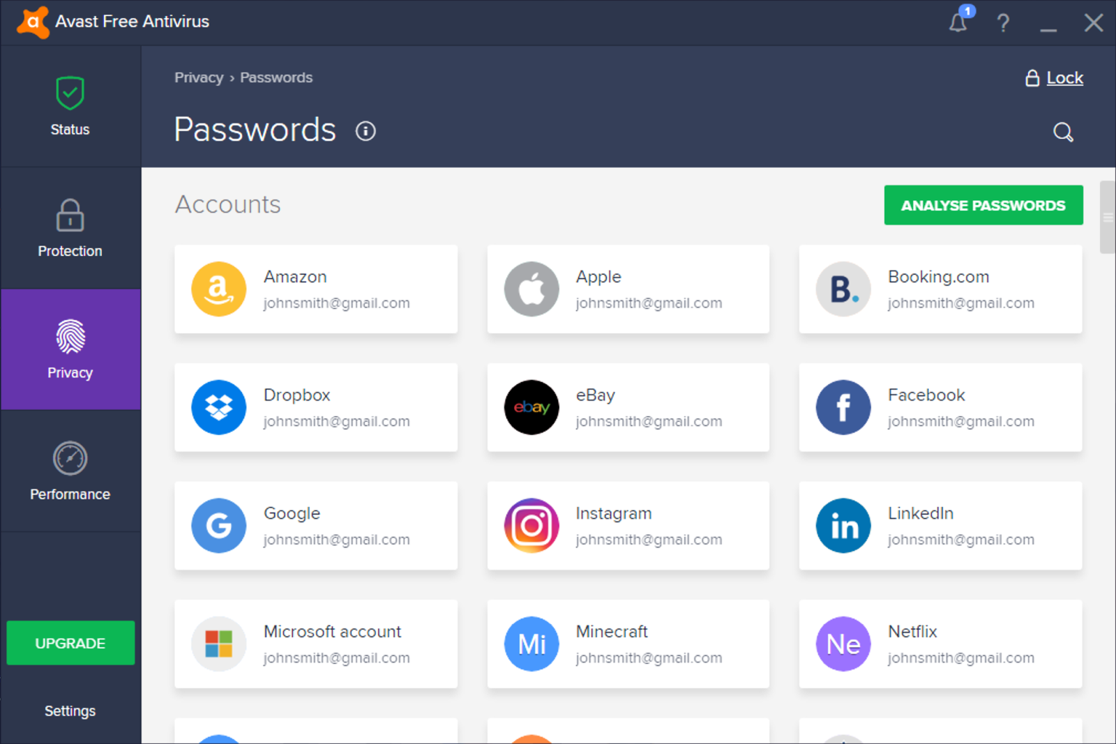 O Avast Passwords é fácil de usar