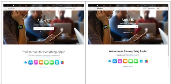 phishing-fake-vs-real-apple-site