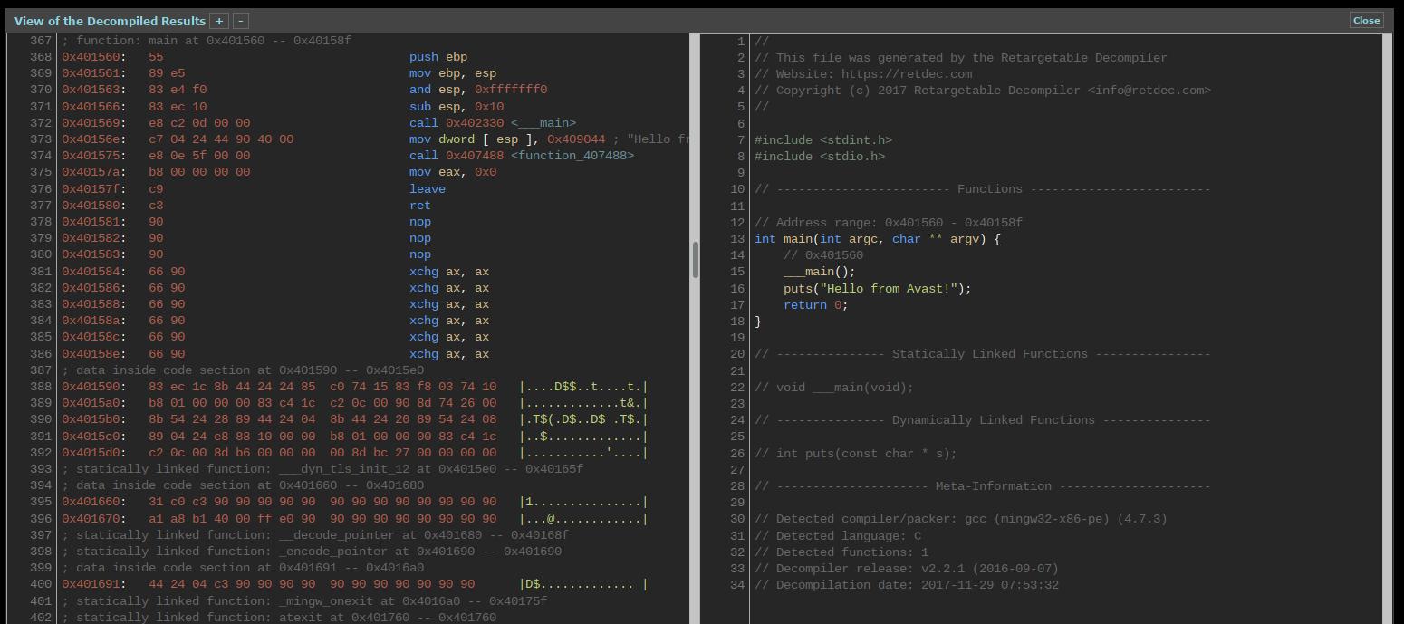 RetDec-Decompiler